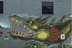Graffiti of dragon in East Atlanta