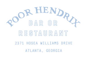 Poor Hendrix Bar and Resteraunt Logo
